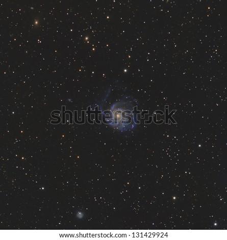 Messier 101 or the Pinwheel Galaxy - stock photo