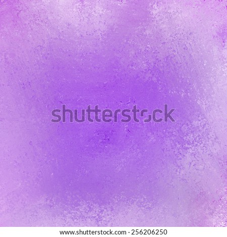 messy purple background, white faded grunge border - stock photo
