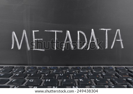Meta  Data - stock photo