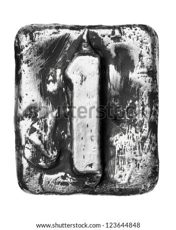Metal alloy alphabet number 1 - stock photo