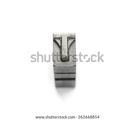 Metal Alphabet letter English a to z - stock photo