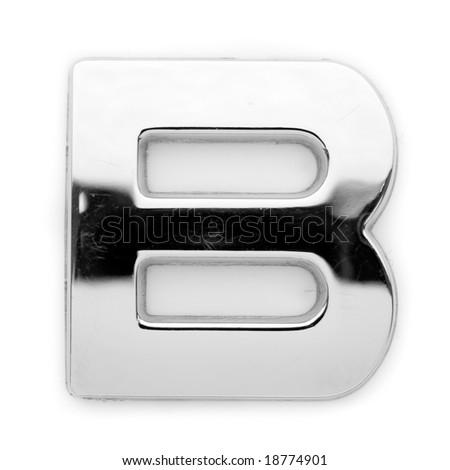 Metal alphabet symbol - B - stock photo