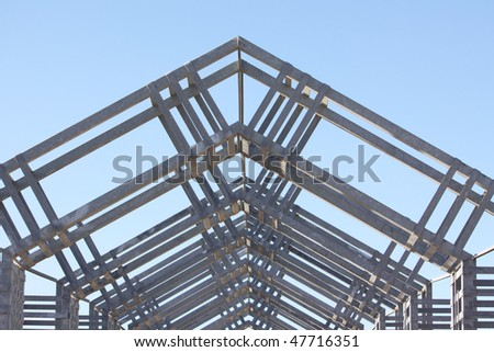 metal architecture structure showing lots of detail - stock photo