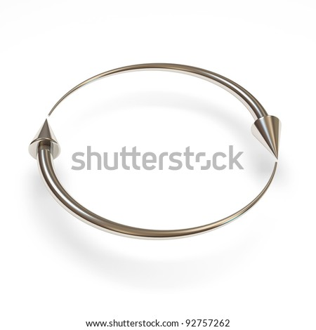 Metal Arrows on white background - stock photo