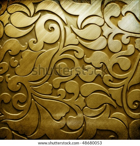 metal background (golden collection) - stock photo