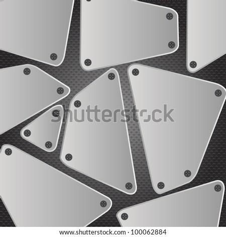 Metal background  illustration - stock photo