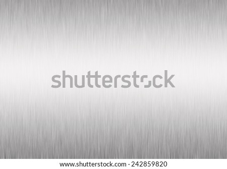 Metal background of brushed steel plate with reflections shiny - stock photo