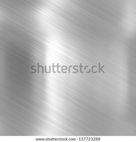 Metal background or texture of bright aluminum sheet - stock photo