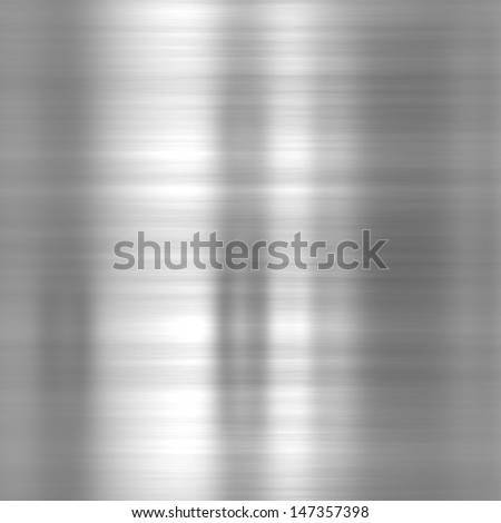 Metal background or texture of brushed aluminum plate - stock photo