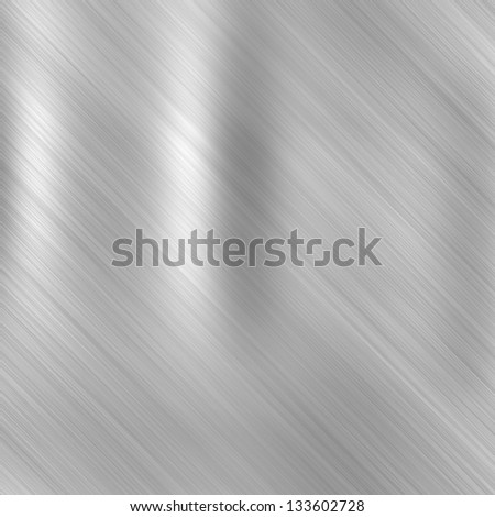 Metal background or texture of brushed steel  plate - stock photo