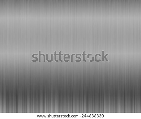 Metal background or texture of brushed steel plate with reflections shiny - stock photo