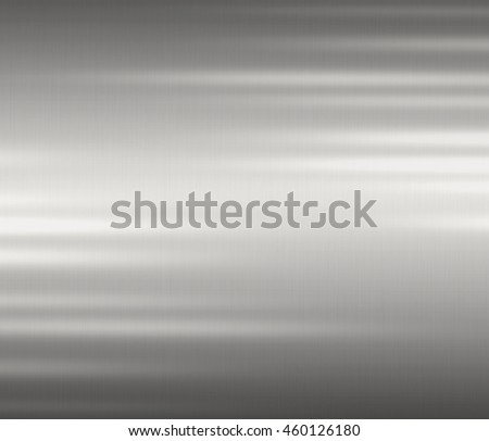 Metal background or texture of brushed steel with steel reflector and shine. - stock photo