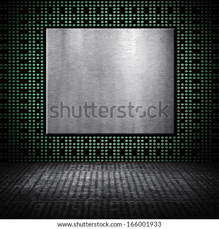 metal background with chip pattern