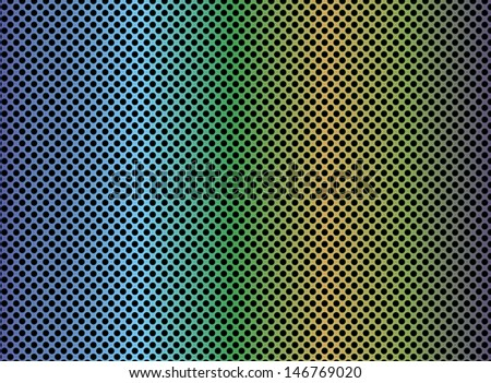 Metal background with circular grid  - stock photo
