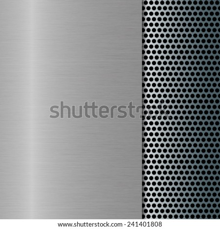 metal background with grill - stock photo