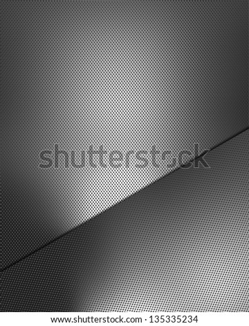 Metal background with metal plate for writing - stock photo