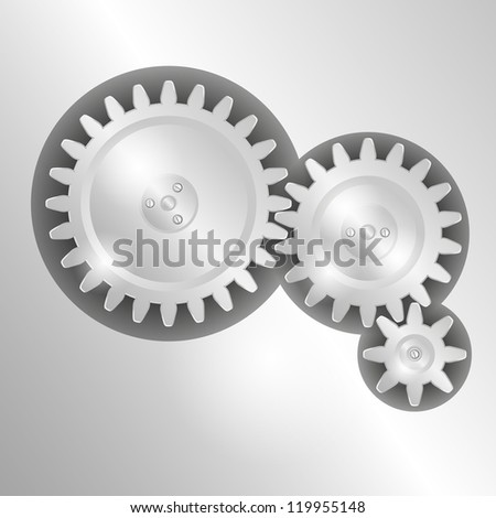 Metal background with pinions. Raster version of the loaded vector. - stock photo