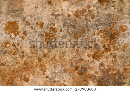 Metal background with rusty corrosion - stock photo