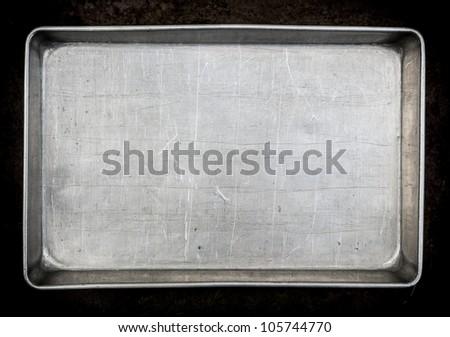Metal baking pan - stock photo