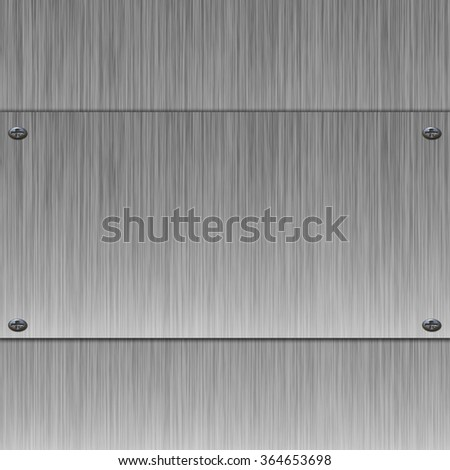 metal banner on silver background