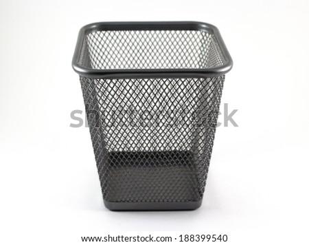Metal basket. - stock photo