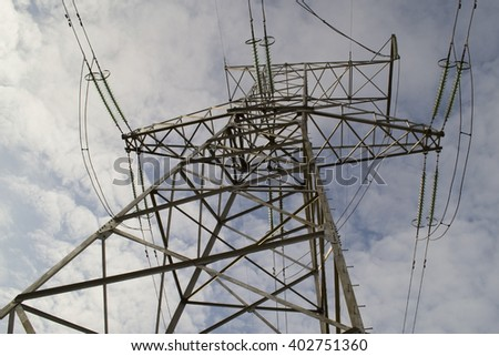 metal Bearing high-voltage power line