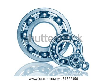 metal bearing on white isolated