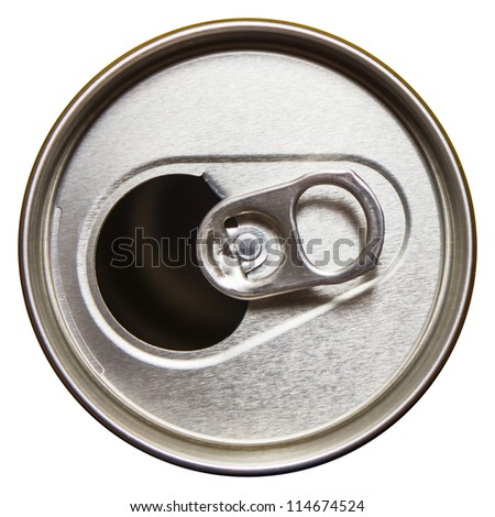 metal beer cans isolated on white background - stock photo