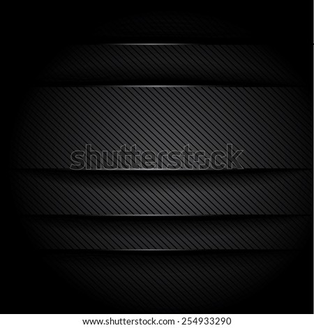 Metal black background - stock photo