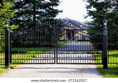 metal black gate