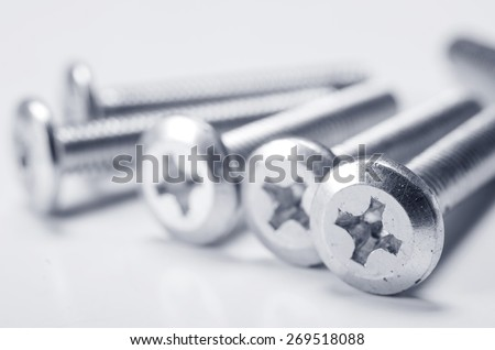 metal bolts - stock photo