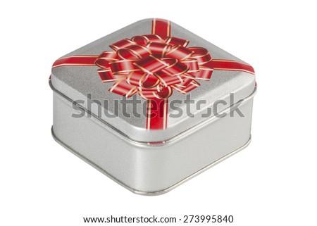 metal box - stock photo