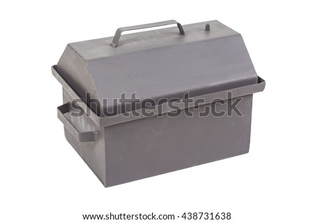 metal box for smoking meat and fish, smokehouse