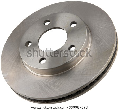 Metal Brake Disc Rotor Isolated