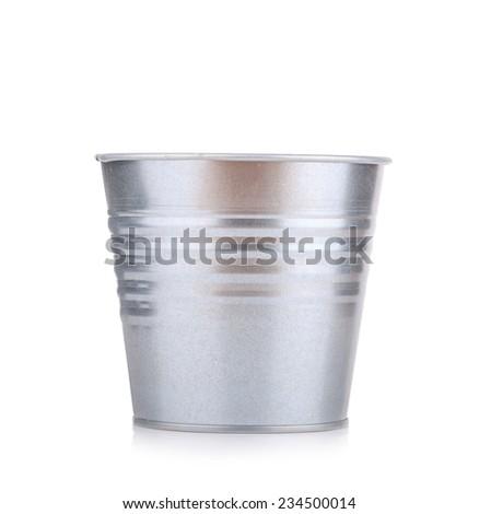 metal bucket - stock photo