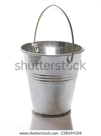 metal bucket - stock photo