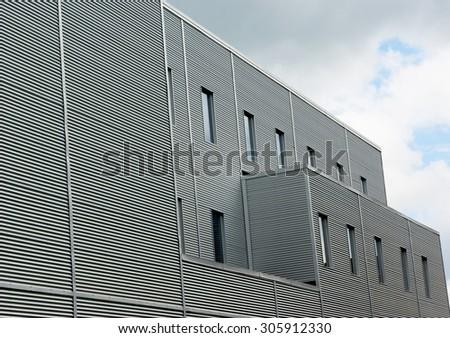 metal building facade - stock photo
