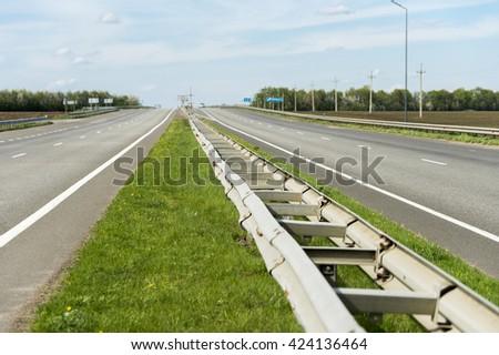 metal bump in the road - stock photo