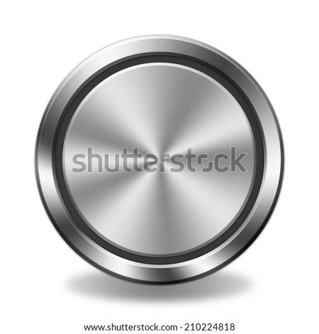 Metal button - stock photo