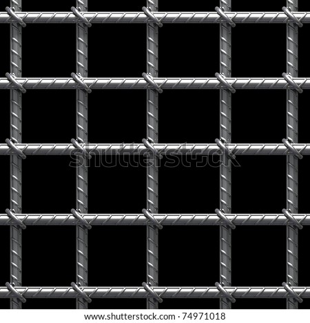 Metal cage - stock photo