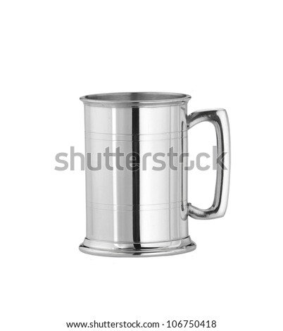 Metal can isolated on white - stock photo