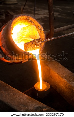 Metal Casting 3 - stock photo