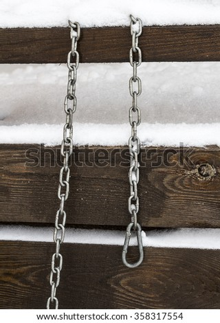 Metal chain for a dog - stock photo