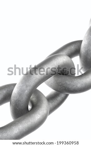 Metal chain isolated on a white background.