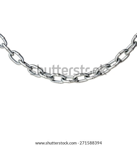 Metal chain isolated on white