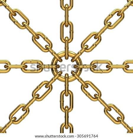 Metal chains - stock photo