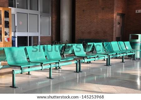 Metal chairs - stock photo