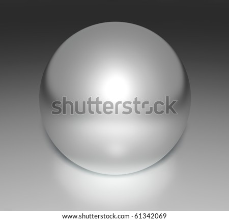 Metal chrome sphere, 3d - stock photo