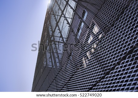 Metal cladding on a building