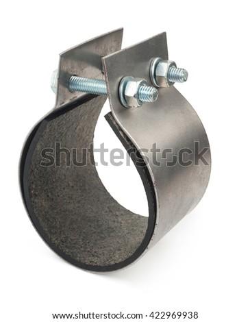 Metal clamp - stock photo